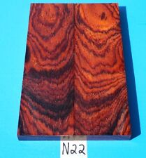 COLORFUL SMALL BURLS COCOBOLO KNIFE BLANK HANDLE SCALES  EXOTIC WOOD LUMBER