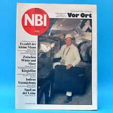 DDR-Zeitschrift NBI 44/1985 Neubukow Sondershausen Drachenbau Basketball Gandhi
