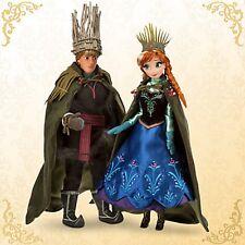 Disney Store Frozen Anna & Kristoff Doll Set Designer Fairytale Collection