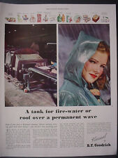 1943 Woman Raincoat B F Goodrich Koroseal Rubber Vintage Print Ad 12003