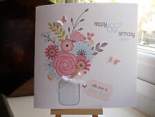 Handmade Personalised  Birthday Card 40th 50th 60th 70th 80th 90 Female Nan Mum