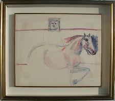 Bruno CASSINARI (Piacenza 1912-Milano 1992) Studio di cavallo cm 45x55 anno 1972