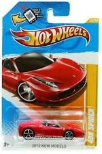 2012 Hot Wheels #25 New Models Ferrari 458 Spider red
