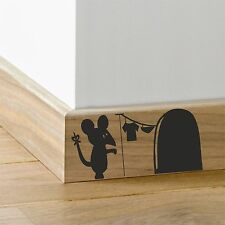 Mouse Hole Laundry_ Skirting Board_ Wall Art _Funny Decal Vinyl Sticker