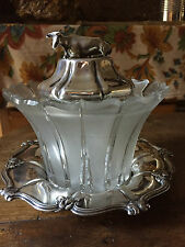 Extremely Rare Cow Finial Silver Butter Dish Henry Wilkinson Sheffield 1833
