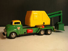 "VINTAGE 1953  ""BULL NOSE"" GMC OPERATING POWER SHOVEL BY SSS JAPAN TIN FRICTION"