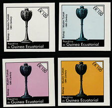 Equatorial Guinea (831) 1976 Chess Pieces EK100 set of 4 PROGRESSIVE PROOFS u/m