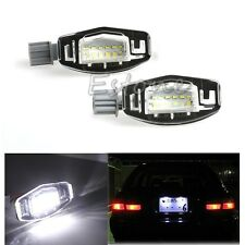 2x For Acura TL RL TSX RDX Honda Civic Accord LED License Plate Light White