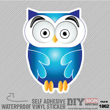 Cute Owl Large Eyes Looking At You Self Adhesive Vinyl Sticker Decal Window Car
