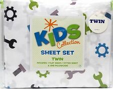 Twin Sheet Set Boys Kid Collection Tool Handyman Theme Soft New