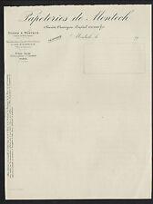 """MONTECH (82) USINE de PAPETERIES """"PAPETERIES de MONTECH"""" en 1900"""