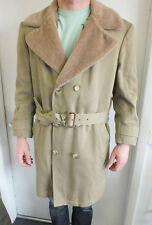 Vintage Brooks Brothers Long Faux Fur Insulated Trench Coat US Men's Large LOOK
