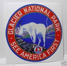 Glacier National Park, See America First, Great Northern, Travel Decal / Sticker