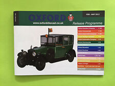 Oxford Diecast Catalogue (Feb 2012 - May 2012) Mint Condition