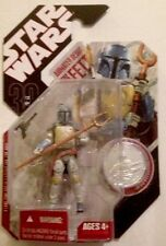 Star Wars 30 Anniversary BOBA FETT Animated Debut With COIN Action Figure 3.75""