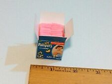 MINIATURE DOLLHOUSE DIAPERS PINK FITS BARBIE INFANT NEWBORN BABY