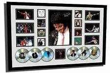 MICHAEL JACKSON SIGNED LIMITED EDITION FRAMED MEMORABILIA