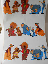 Vintage Hair Bear Bunch Cartoon Retro Contact Paper 1 yard