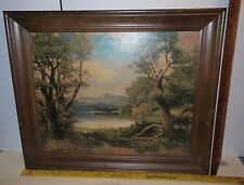 "Beautiful Landscape reproduction Print by Robert Wood 23.75"" x 19.75"" Signed"