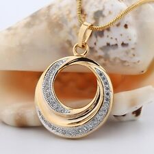 Fashion Jewelry 18K Gold filled Swarovski crystal unique pendant necklace !