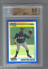 CHRISTIAN COLON 2010 Bowman Chrome USA Blue Refractor Rookie #/250 BGS 9.5