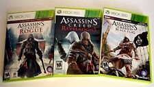 Assassin's Creed: Revelations + Black Flag + Rogue BRAND NEW! Xbox 360 LOT!!!