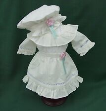 "American Girl 18"" Retired SAMANTHA CREAM RUFFLED LAWN PARTY DRESS + HAT REPRO"