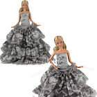 1 * Handmade Wedding Party Gown Clothes Dress Outfit For Barbie Doll Xmas Gifts
