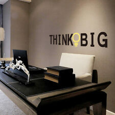 Personalized Think bulb Wall Lettering Stickers Decor Art Removable Home Mural