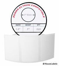 """1.5x1 (1-1/2"""" x 1"""") Direct Thermal Zebra Eltron Labels (1 Roll / 520 Labels)"""