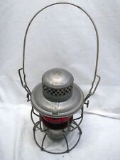 Vintage Adlake Kero Railroad Lantern Red Globe Train Lamp Fluid Light