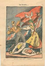 Caricature Anti-Nazi Chancellor Germany Sudetenland Czechoslovakia WWII 1939