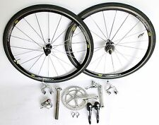 CAMPAGNOLO RECORD 9 SPEED GROUP SET CARBON TITANIUM MAVIC COSMIC 172.5 COLNAGO