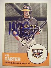 KES CARTER signed RAYS 2012 Heritage Minors baseball card WESTERN KENTUCKY AUTO