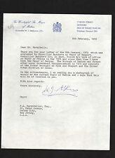 William John McKeown SIGNED letter by Mayor of Medina, Isle of Wight, England UK