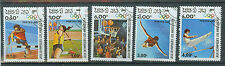 Briefmarken Laos 1983 Olympia Los Angeles Mi.Nr.618-22