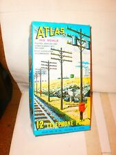 VINTAGE ATLAS 12 TELEPHONE POLE SET FOR HO TRAINS