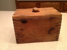 Antique Butter Mold Press Wooden Dovetailed Nice Patina