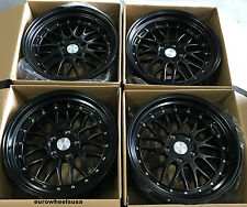 "19"" ESR SR5 Wheels For BMW 325i 328i 330i 335i Z4 19x8.5 / 19x9.5 Black Rims Set"