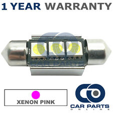 1X PINK CANBUS NUMBER PLATE INTERIOR 2 SUPER BRIGHT SMD LED BULBS 36MM 07PX1