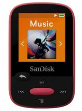 SanDisk Clip Sport 8GB MP3 Player, Pink With LCD Screen and MicroSDHC Card Slot