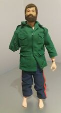 ORIGINALE VINTAGE ACTION MAN FLOCCATI capelli Bearded Figura 1964 con i vestiti