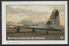 GB Locals - Bernera 2818 - 1982 AIRCRAFT 0f WW2  £2 deluxe sheet  u/m