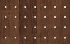 2m X 67.5cm WOODGRAIN WOOD BROWN SILVER SQUARES STICKY BACK PLASTIC VINYL FILM