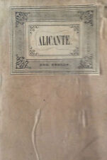 ALICANTE. Francisco Coello. Mapa grabado original. Madrid 1859