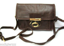 Topshop Real Leather Brown Crossbody Bag