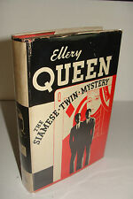 The Siamese Twin Mystery by Ellery Queen 1st/Early 1933 Hardcover