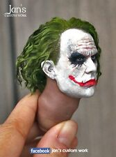 1/6 CUSTOM Joker Batman action figure head sculpt DX dam Hot toys enterbay 12""