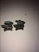 MEX THE CAT DR13  Pair of  Cufflinks Made From English Modern  Pewter