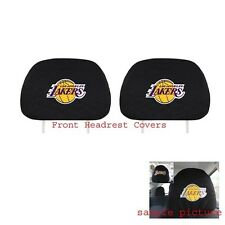 New 2pcs NBA Los Angeles LA Lakers Headrest Covers Match Seat Covers Floor Mats